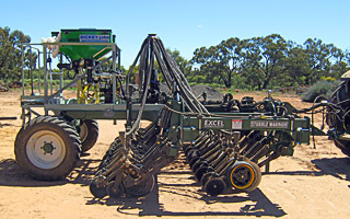 Rice Research Australia's 4.5 metre Excel Single Disc Planter